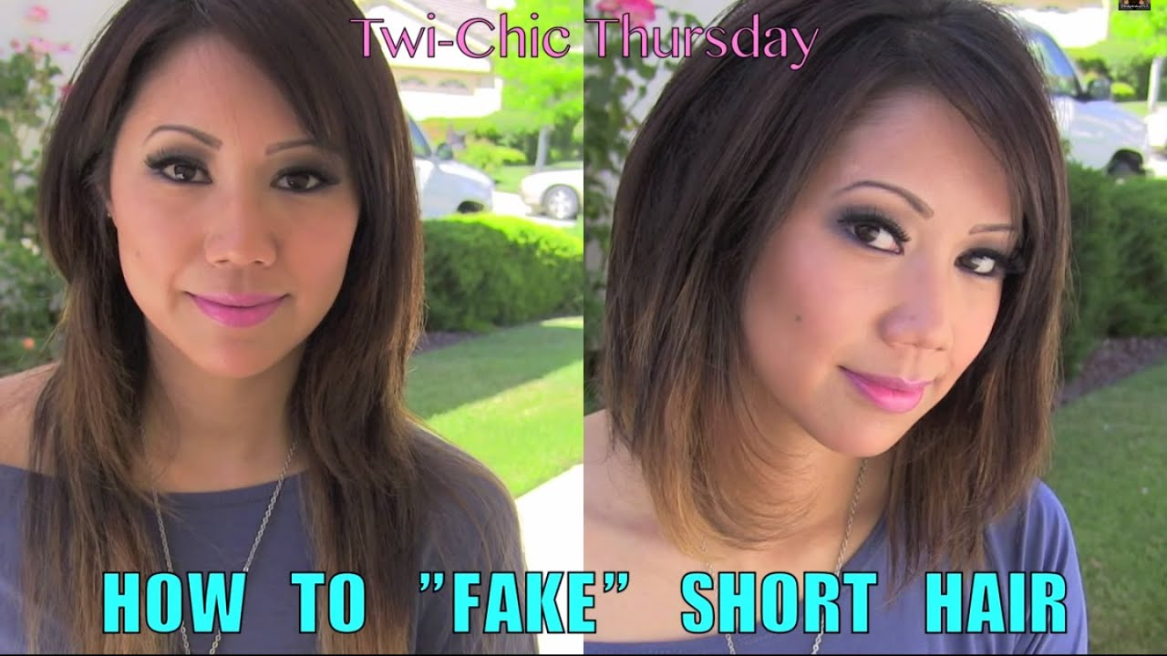 How To Fake Short Hair Twi Chic Thursday Youtube