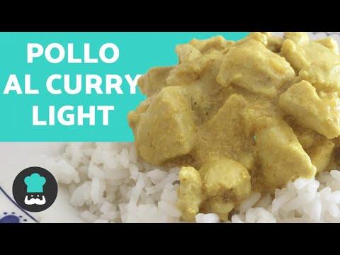 Pollo al Curry LIGHT y SIN NATA - Receta FÁCIL y RÁPIDA