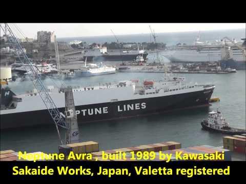 Ships at the Port of Piraeus, Greece