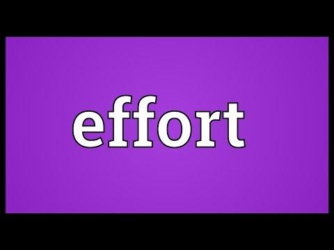 Make effort synonym formal