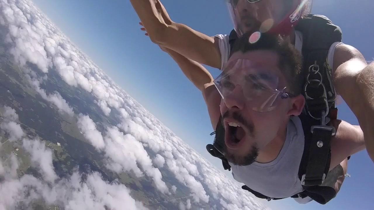Tandem Skydive Sawyer From El Dorado Ar