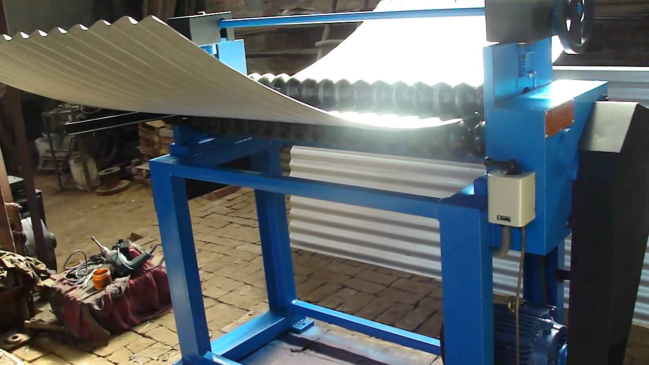 Corrugated Sheet Bending Galvanized Drum Making Youtube