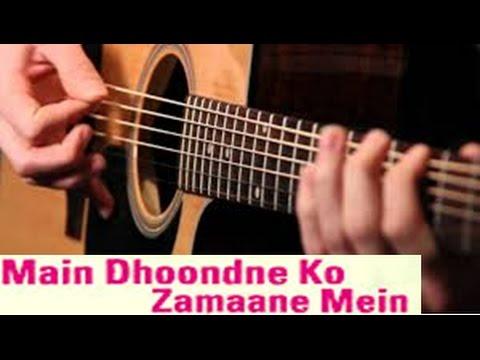 Learn Guitar- Heartless - Main Dhoondne Ko Zamaane Mein Guitar ...
