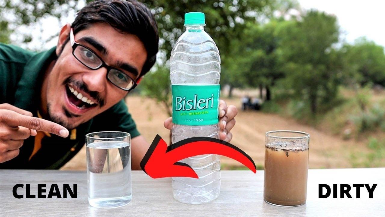 Filtering & Drinking Dirty Water Using Plastic Bottle | प्लास्टिक बोतल से किया गंदे पानी को साफ़ |