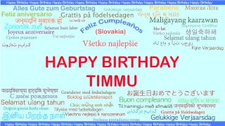 Timmu   Languages Idiomas - Happy Birthday