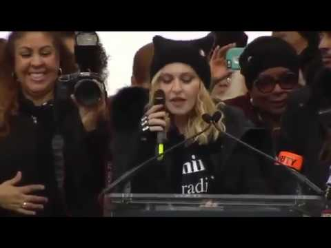 Madonna Women's March Speech in DC Threatens to Bomb White House Breaking News  January 22 2017