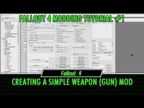Fallout 4 Creation Kit Modding Tutorial 1 - Creating a Simple Weapon