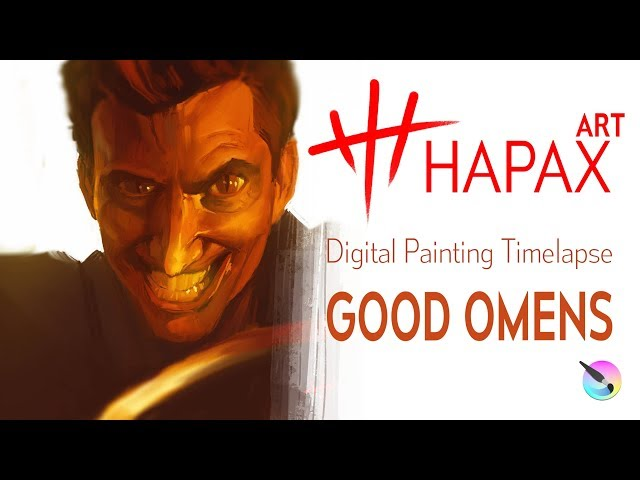 Digital Painting Timelapse | Good Omens