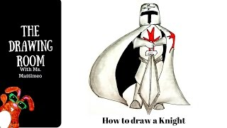 How to draw a knight - how to draw easy