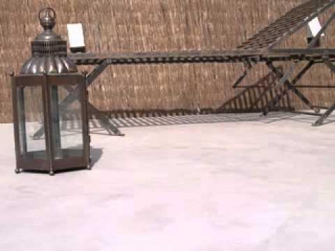 en terrazas en exteriores