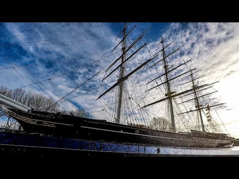 London. Walking Tour of Greenwich. The Cutty Sark, the Waterfront and the Old Royal Naval College