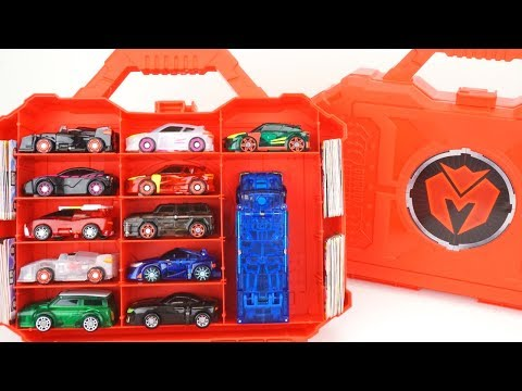 NEW Mecard Carry Case Holds Mecardimals For Battle! Evan Tanatos Transforming Cars Who Wins?
