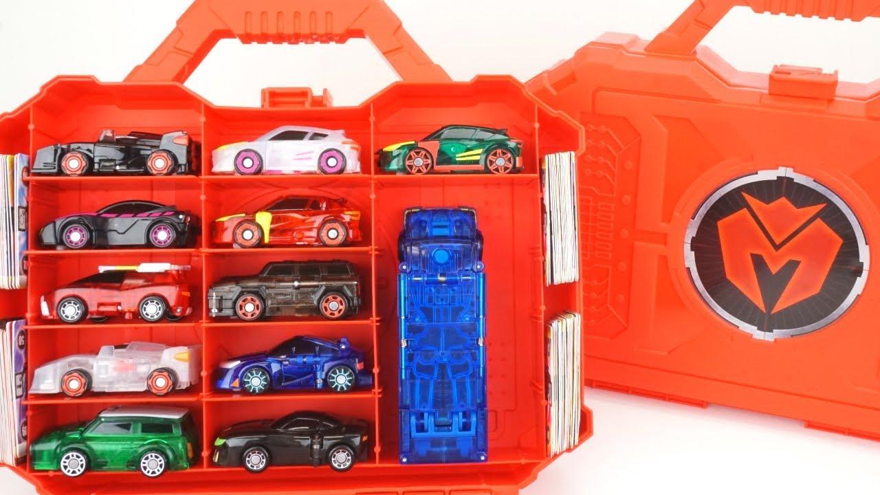 TANATOS Purple-Turning Mecard Transforming Robot Car Toy