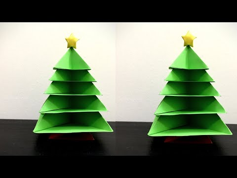 Origami Tree |Paper Christmas Tree | How to Make a 3D Paper Xmas Tree DIY Tutorial | Christmas Decor