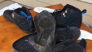3 99 for air jordan 12 nubuck   thrift steals full restoration on feet
