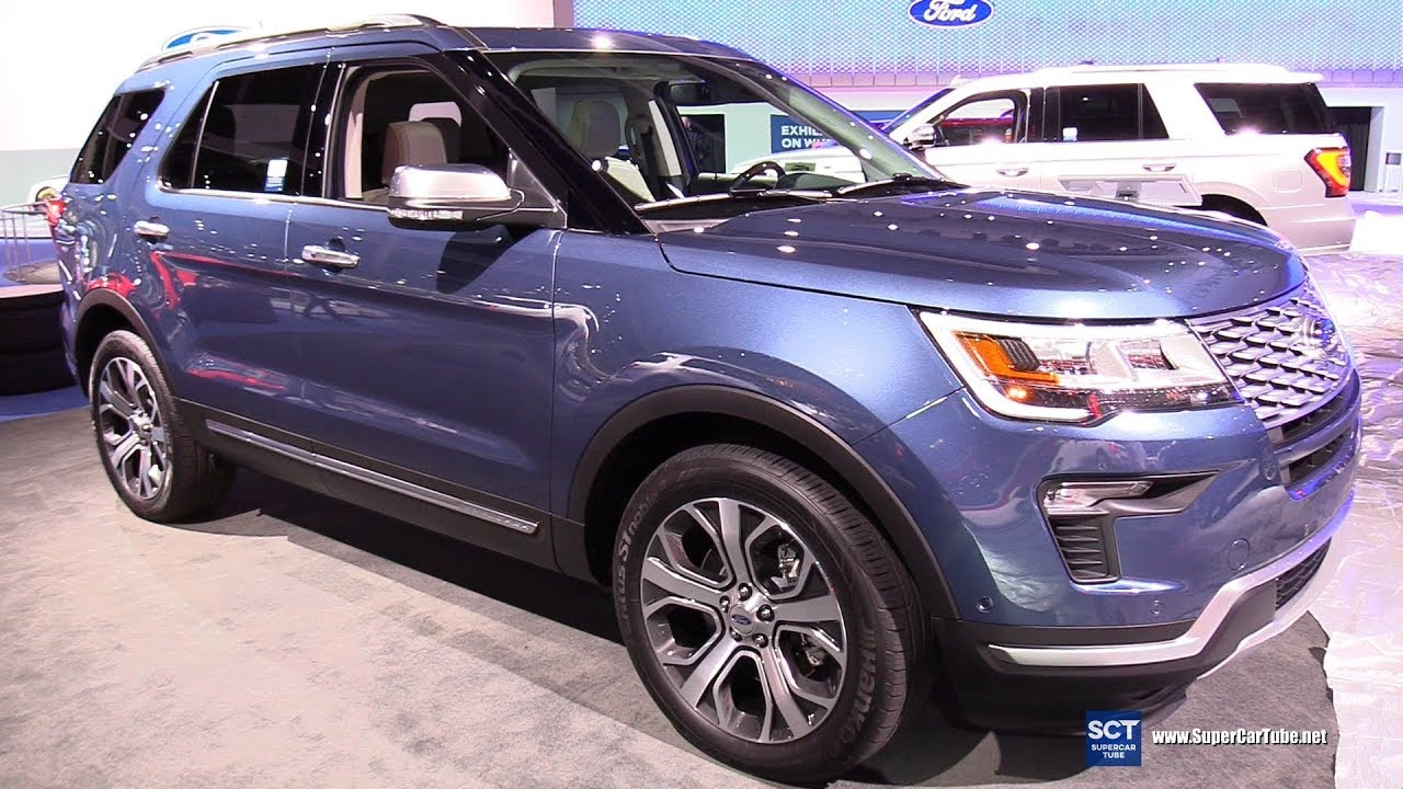 2018 ford explorer platinum 4wd exterior and interior walkaround 2017 la auto show
