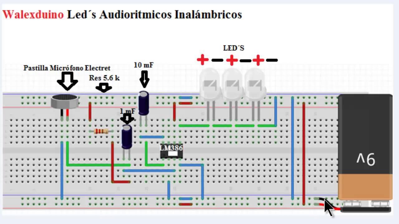 Circuito Luces Audioritmicas : Circuito luces audioritmicas inalambricas youtube