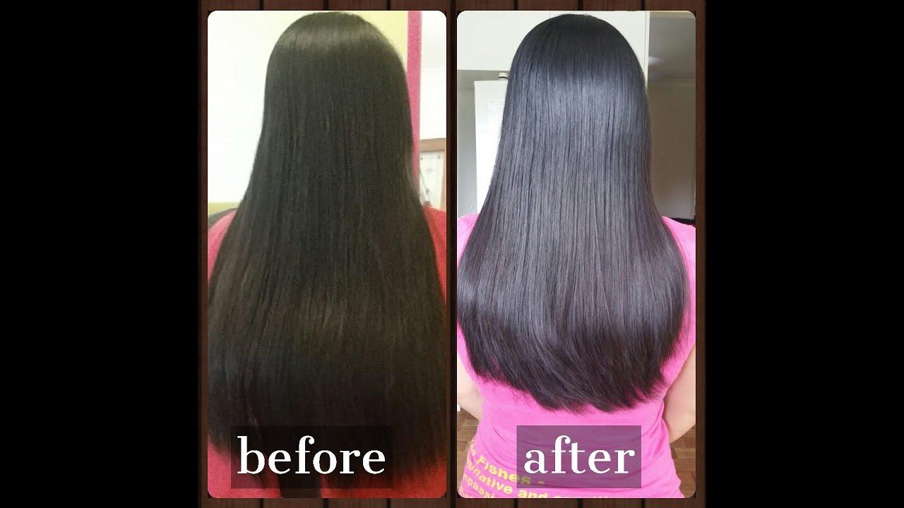 long layared u-shape ladies haircut -homeservice- - youtube