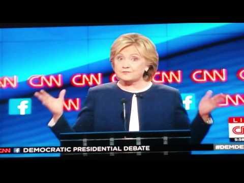 Hillary Clinton Democratic Presidential debate