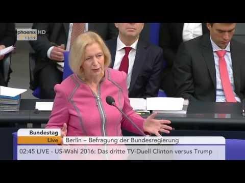 Befragung der Bundesregierung im Bundestag am 19.10.2016