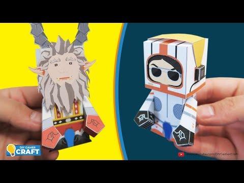 Fortnite: MOONWALKER & SENTRY GUNNER KRAMPUS Paper Craft (DIY)