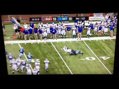 Matt Simms fumble - LOL! 2015 Preseason wk 4 Buffalo Bills @Detroit Lions