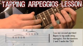Guitar Tapping Lesson | Arpeggios
