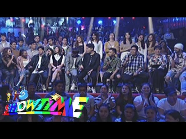 "It's Showtime: The It's Showtime family sings ""Hindi Kita Iiwan"", ""A Friend"" and ""Kapit Lang."""