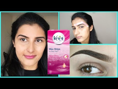 In 3 Min How To Wax Your Eyebrows At Home Use Veet Wax Strips To