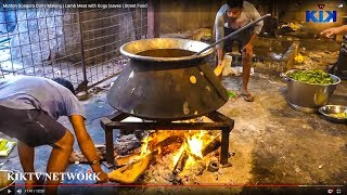 Mutton Gongura Curry Making | Lamb Meat with Gogu leaves | Street Food