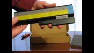 видео Аккумулятор для LENOVO G550 (4400 mAh 11,1 V)
