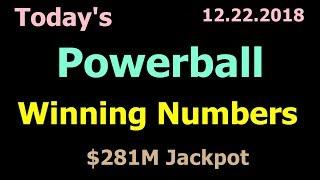 Today Powerball Winning Numbers 22 December 2018 Saturday Night. Powerball Drawing 12/22/2018
