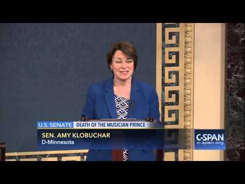 Senator Amy Klobuchar (D-MN) on Prince (C-SPAN)