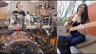 "Smashing Pumpkins - Drum & Bass Cover Ft. Anna Sentina ""Bullet With Butterfly Wings"""
