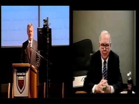 Montana Economic Development Summit -- Warren Buffett part 1