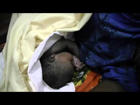 South Sudan Independence - First baby girl born at Juba University Teaching Hospital