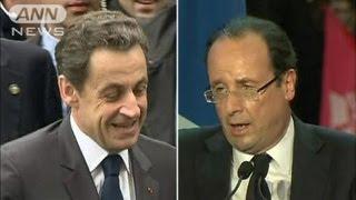 サルコジ大統領は決選投票でも苦戦か 仏大統領選(12/05/07)