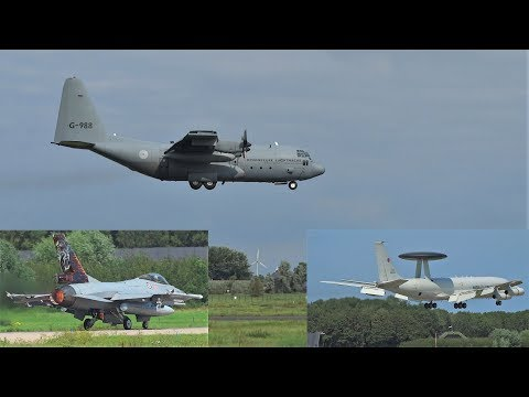 Great spotting day at Leeuwarden Air Base! C130, Awacs and roaring f16's!
