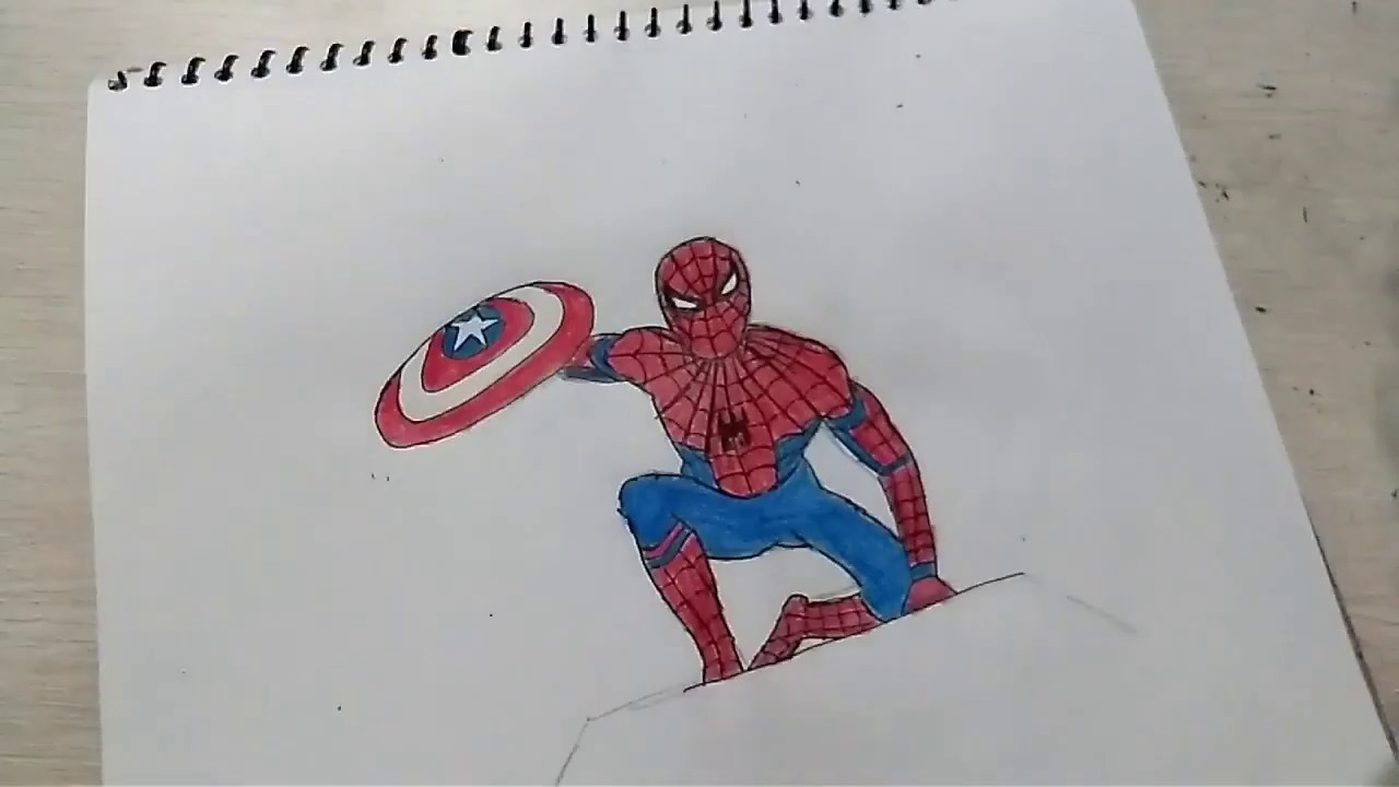 How To Draw Spiderman Step By Step Easy On Paper Digitalspace Info