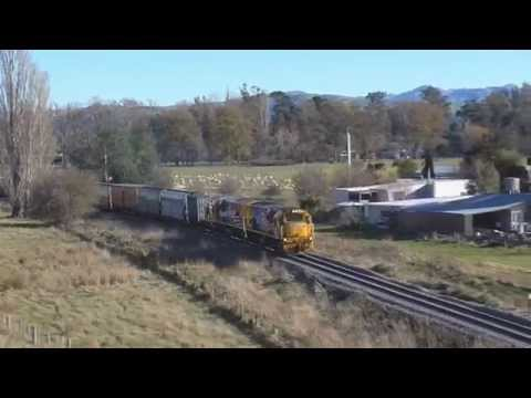 KiwiRail Trains on the Kaikoura Coast