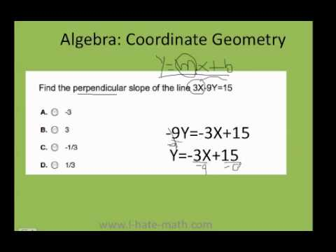how to find perpendicular slope