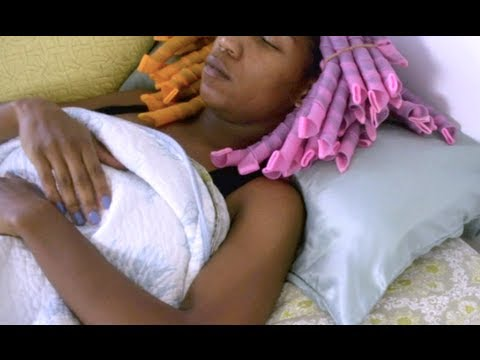 style hair while sleeping how to sleep comfortably in curlformers 7030