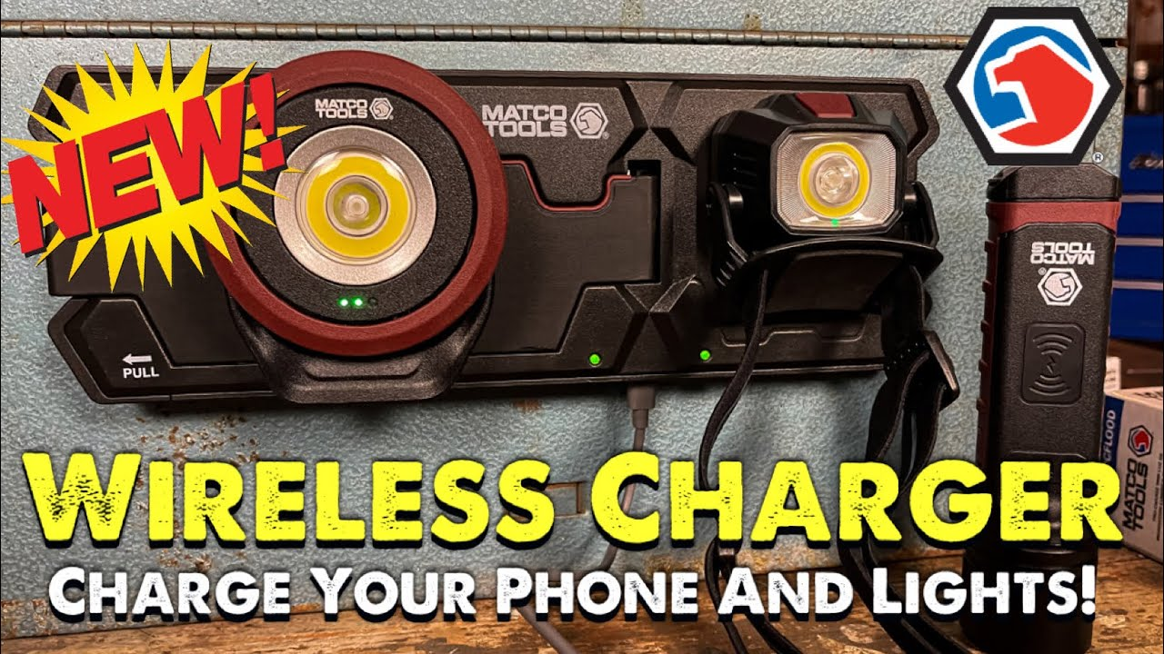 Matco Tools New Wireless Charging System. Charge Your Phone And Your Lights At The Same Time
