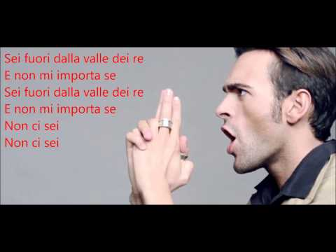 La Valle Dei Re - Marco Mengoni  Lyrics