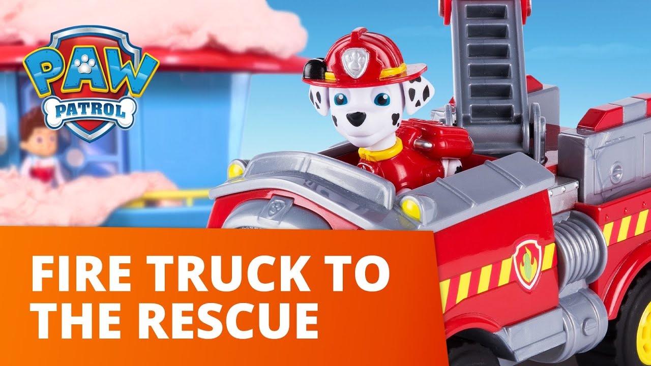 PAW Patrol | Marshall and his Fire Truck to the Rescue! | Toy Episode