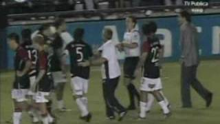 Colón vs. Boca -Foul de Bonilla a Bertoglio