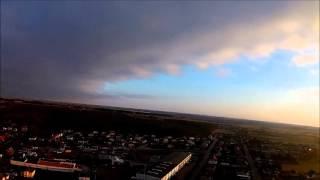 TAROT FY680 + EKEN H9  Nowa Wieś Wielka lot o zachodzie słońca
