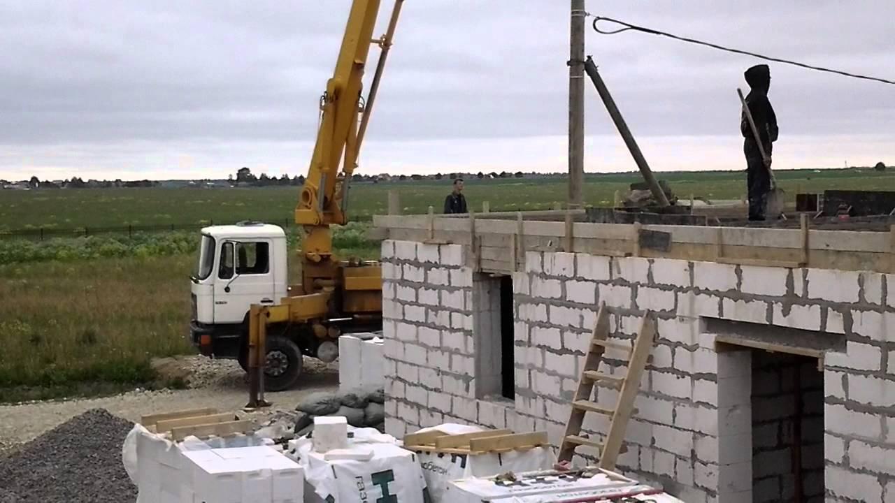 Перекрытие на газобетонные блоки