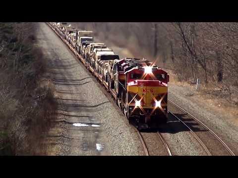 Big US Military Train Overhead View