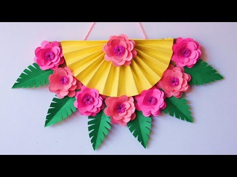 Paper wall hanging - DIY easy paper wall decoration ideas